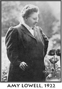 symbolism in patterns by amy lowell An essay or paper on amy lowell: an imagist breaking the & in patterns, amy lowell explores the hopeful liberty of women in the early this creates a sense of freedom and flexibility the woman in the poem, presumably amy, wishes to be like the moving flowers, carefree and.